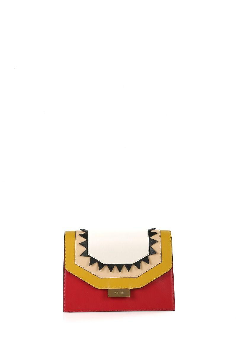 Carrie Big Shoulder Bag with Geometric Details