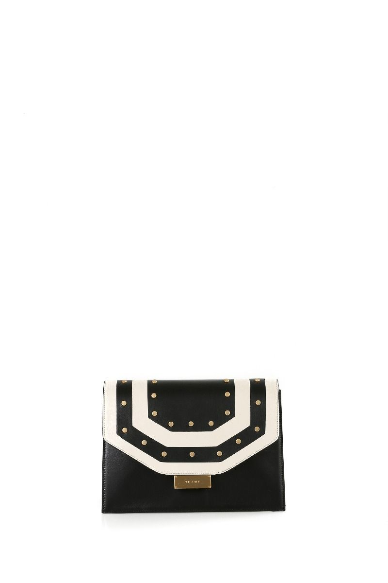 Carrie Big Shoulder Bag with Geometric Details