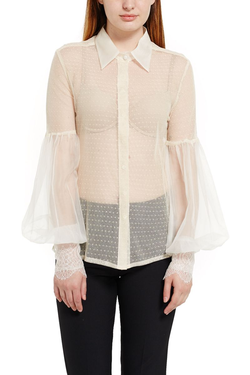 Silk Blouse with Embroidery