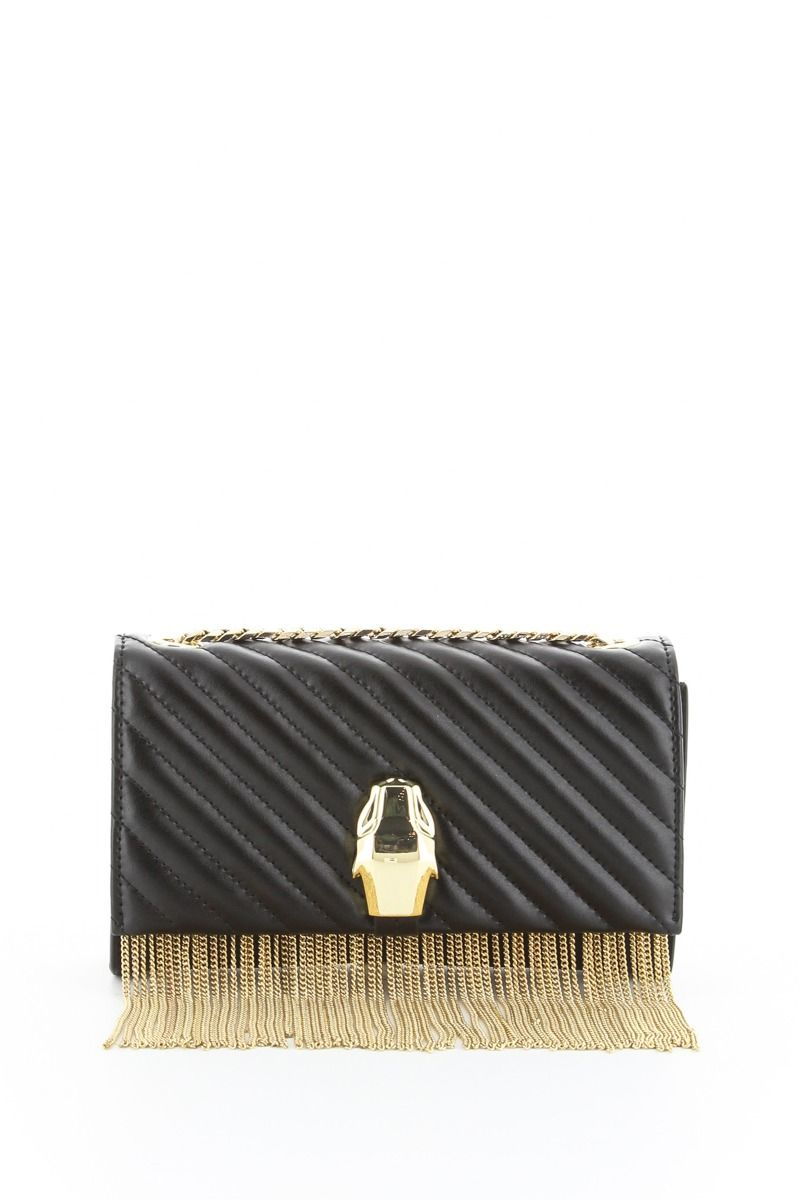 RSVP Gala Handbag with Gold Fringe