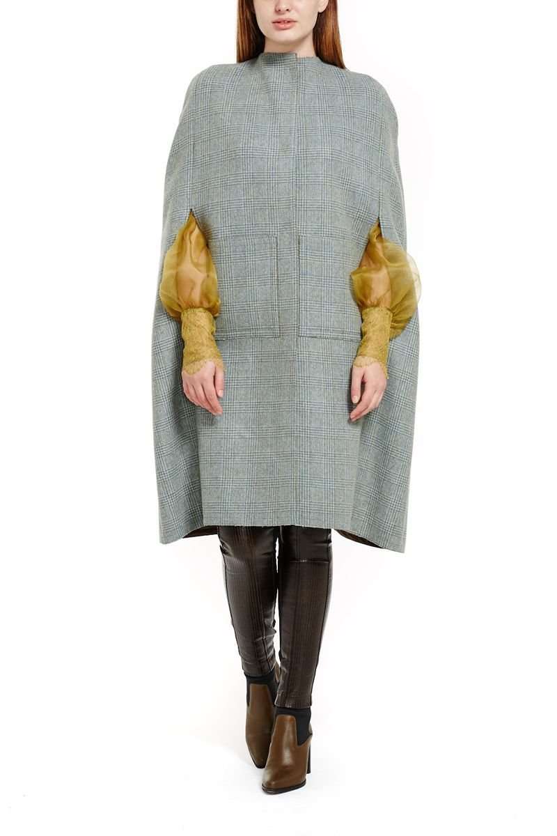 Tartan Wool Cape