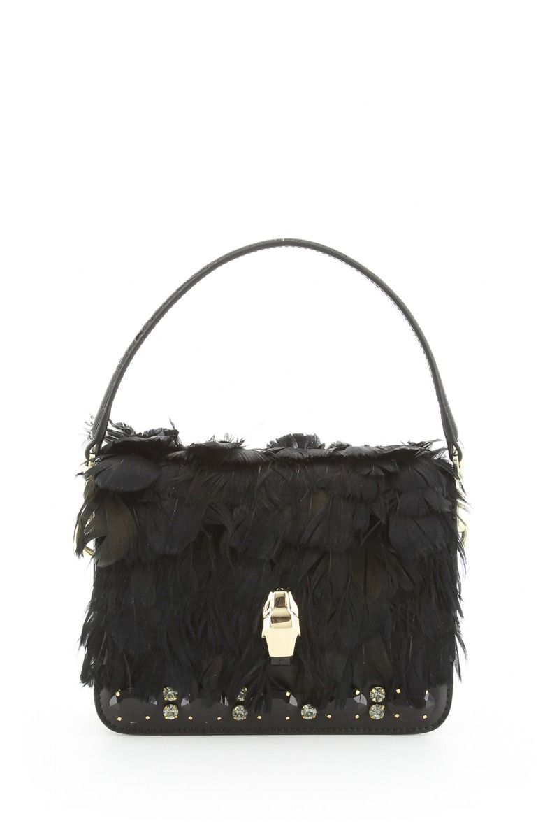 Milano Handbag with Feathers