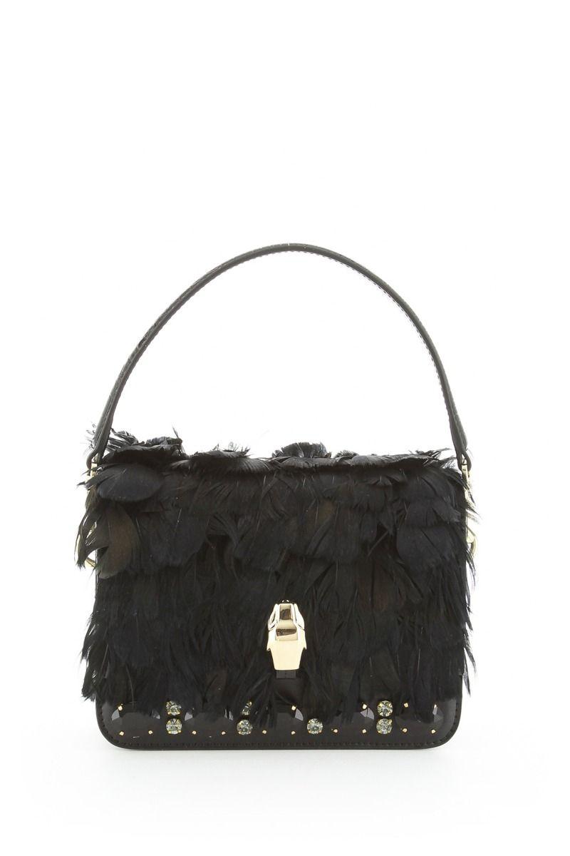 Milano Handbag with Feathers