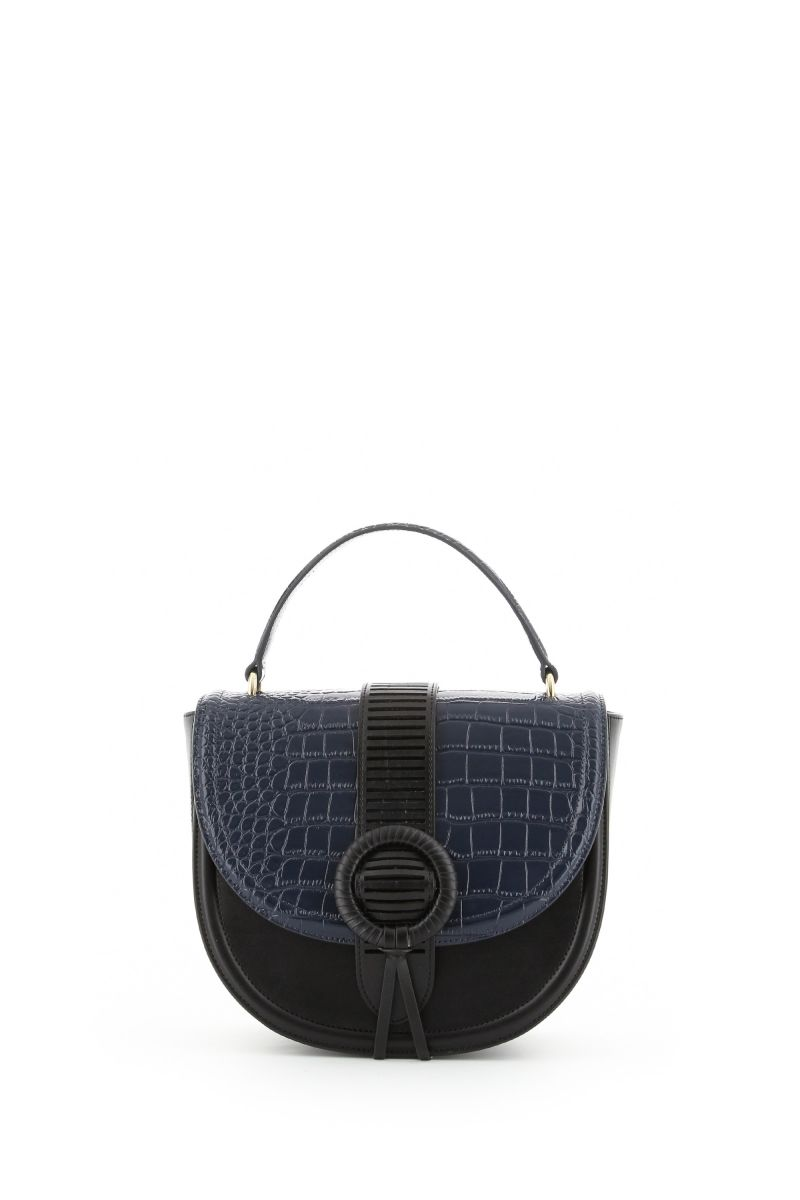 Goddess Handbag in Blue and Black