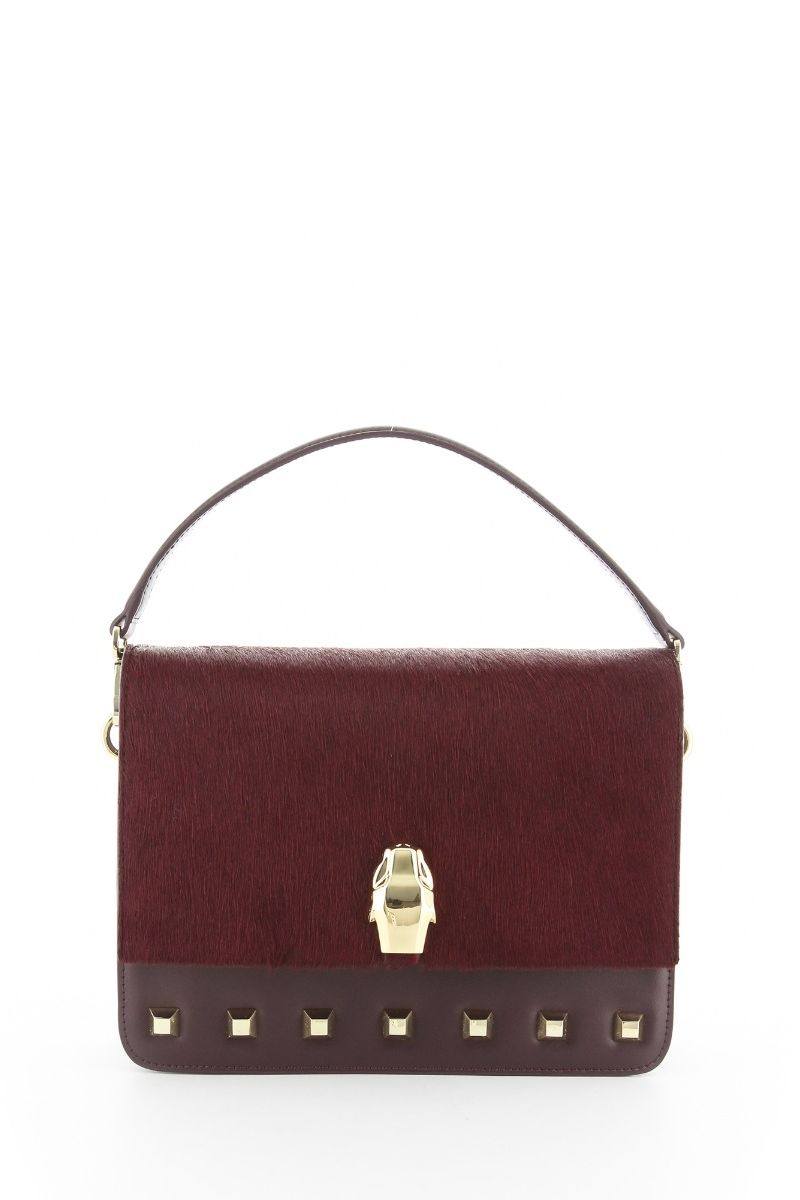 Milano Handbag with Calf hair