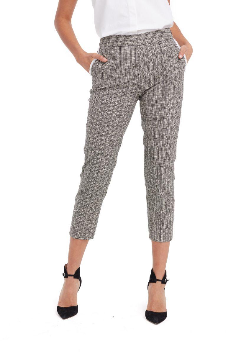 Cropped Cotton-Blend Pants