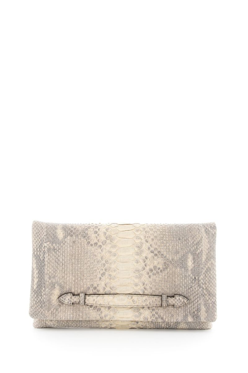 Texas Suede Clutch with Gold Strap