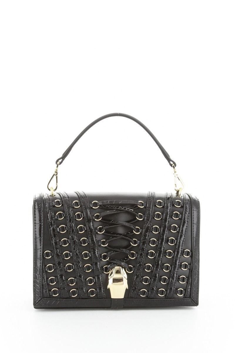 Tokyo Handbag with Leather Detail