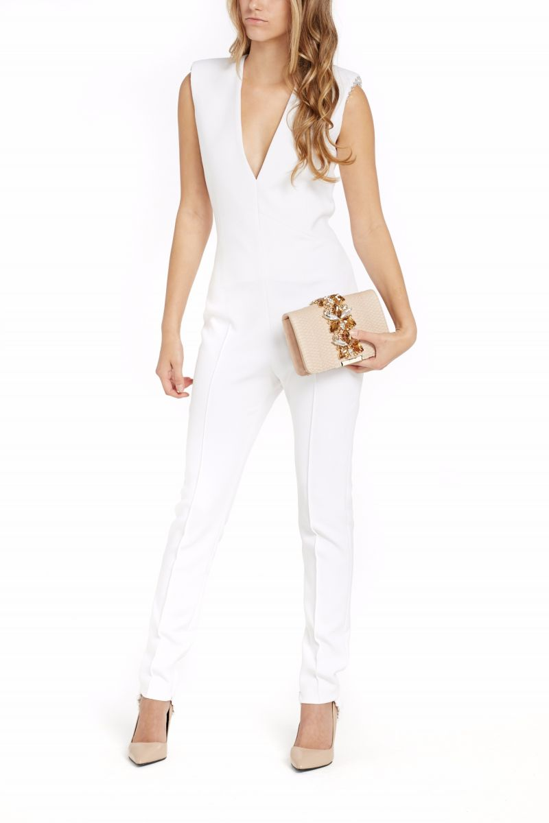 V-Neck Stretch Jumpsuit
