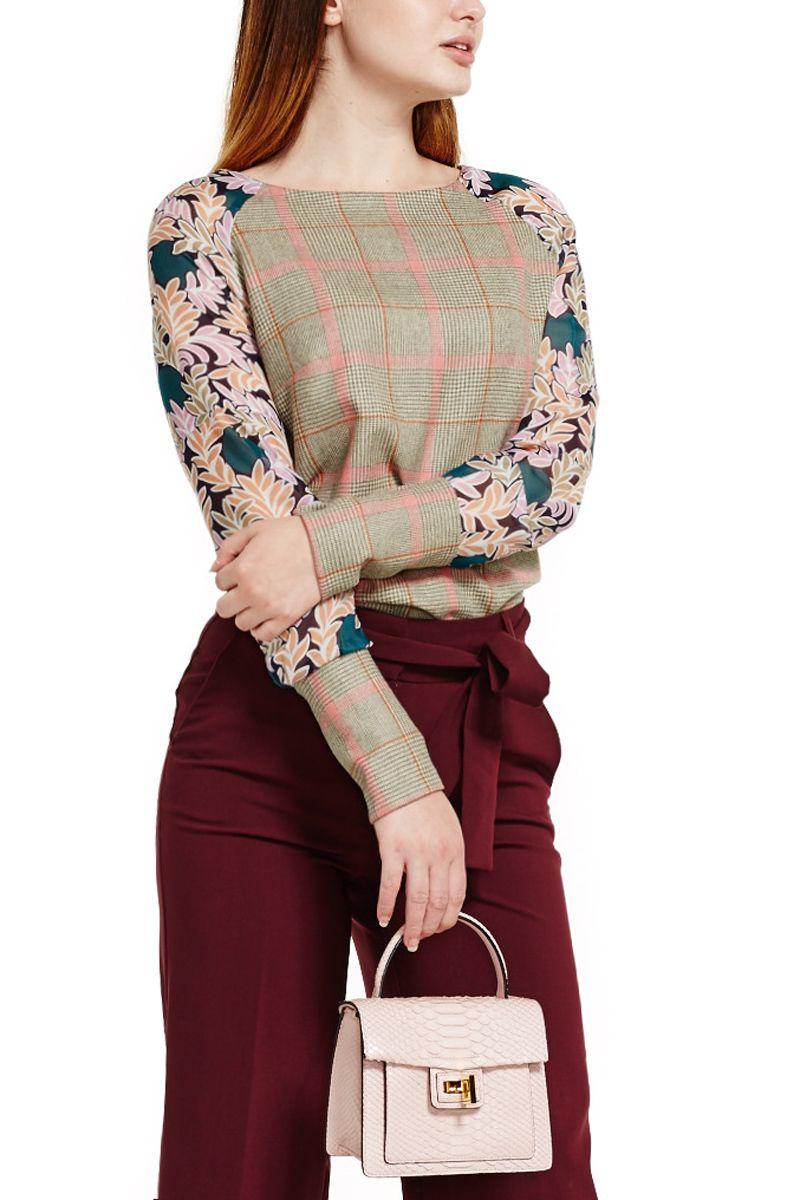 Wool and Silk Tartan Top