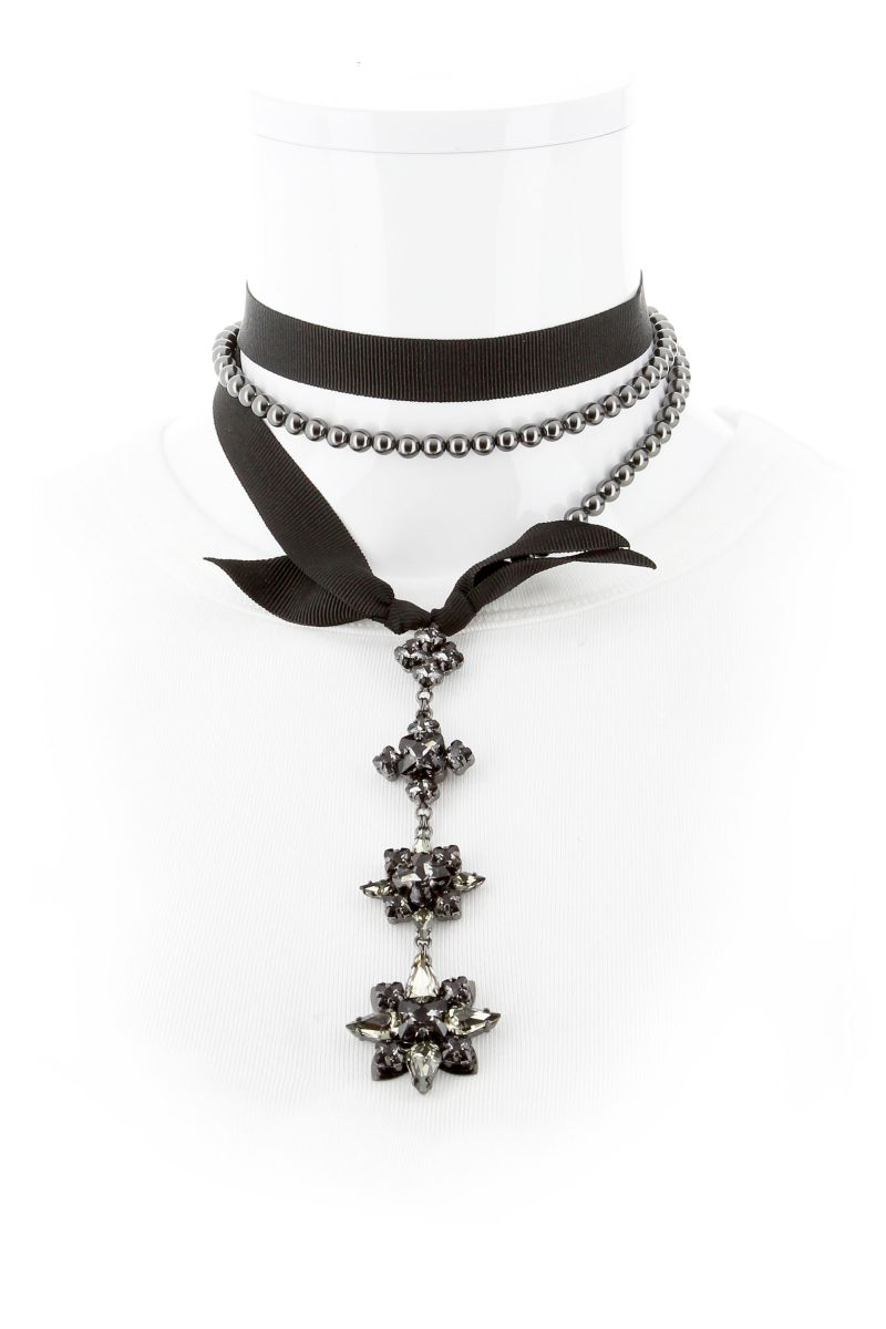 Crystal Night Olivia Layered Necklace
