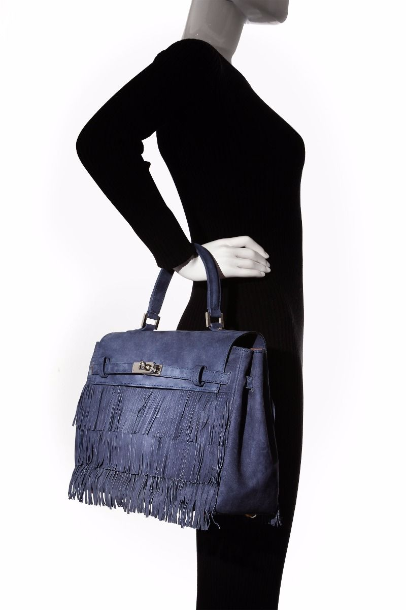 Hippie Chic Medium Fringe Bag with Top Handle