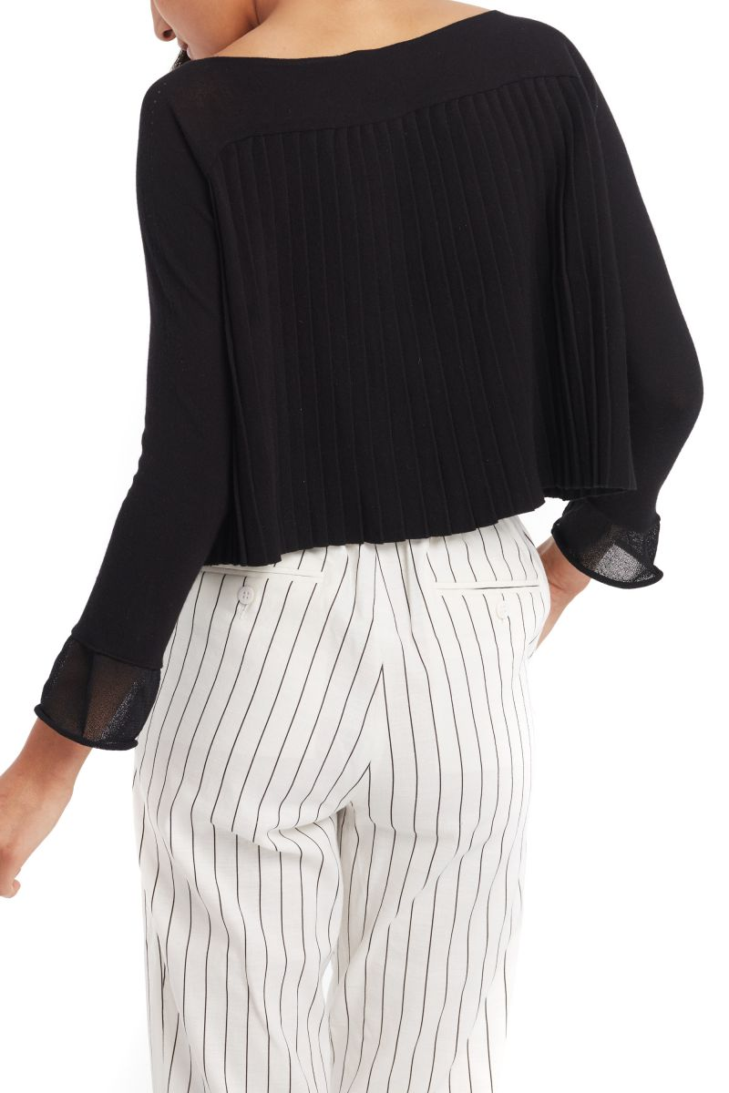 Pleated Knit Blouse